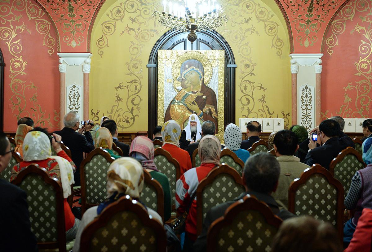 Встреча Святейшего Патриарха Кирилла с группой паломников из Китая