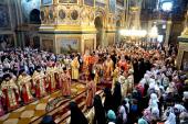 Блаженнейший митрополит Киевский Онуфрий совершил Литургию в Почаевской лавре