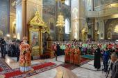 В день памяти святителя Николая Чудотворца Предстоятель Русской Церкви совершил Литургию в Николо-Угрешском монастыре