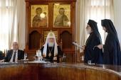 Святейший Патриарх Кирилл встретился с членами Священного Кинота Святой Горы Афон