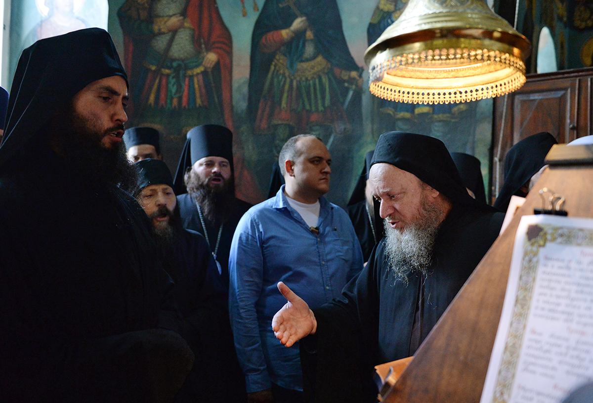 Визит Святейшего Патриарха Кирилла в Грецию. Посещение Русского на Афоне Пантелеимонова монастыря