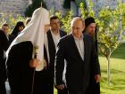 Президент России В.В. Путин посетил Русский на Афоне Пантелеимонов монастырь