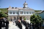 Святейший Патриарх Кирилл совершил молебен в скиту Ксилургу на Афоне