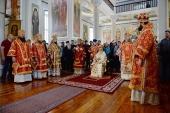 Предстоятель Русской Церкви совершил освящение храма и Литургию в Старом Русике на Афоне