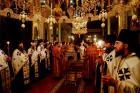 Святейший Патриарх Кирилл совершил всенощное бдение в Пантелеимоновом монастыре на Афоне