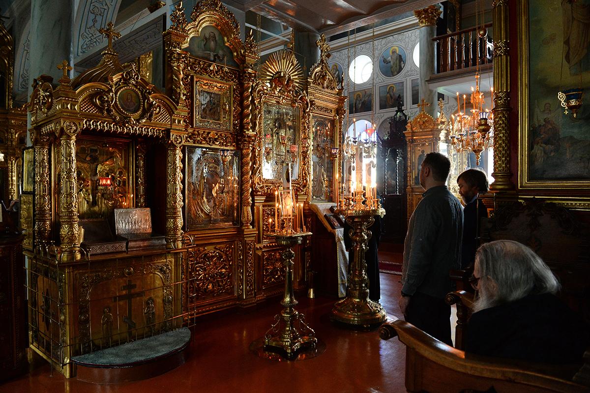 Визит Святейшего Патриарха Кирилла в Грецию. Литургия в Покровском храме Русского на Афоне Пантелеимонова монастыря