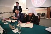 Состоялось подписание Соглашения о сотрудничестве между Синодальным отделом по взаимоотношениям Церкви с обществом и СМИ и ОЦАД