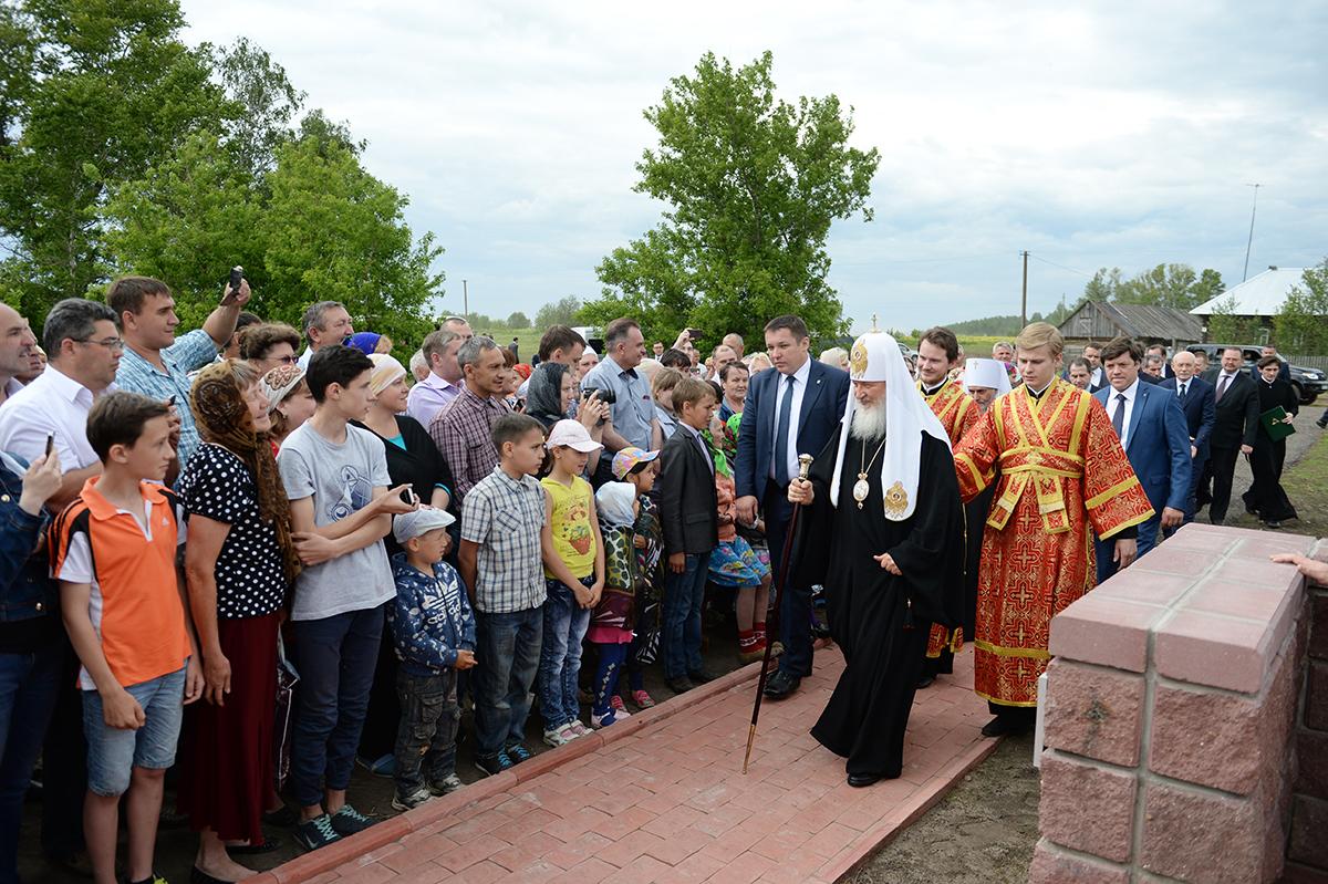 Патриарший визит в Башкортостанскую митрополию. Освящение креста на месте Петропавловского храма в селе Уса-Степановка