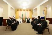 Состоялась встреча Святейшего Патриарха Кирилла с председателем Центрального духовного управления мусульман России Талгатом Таджуддином