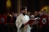 Патриаршее служение в канун праздника Вознесения Господня в Храме Христа Спасителя г. Москвы