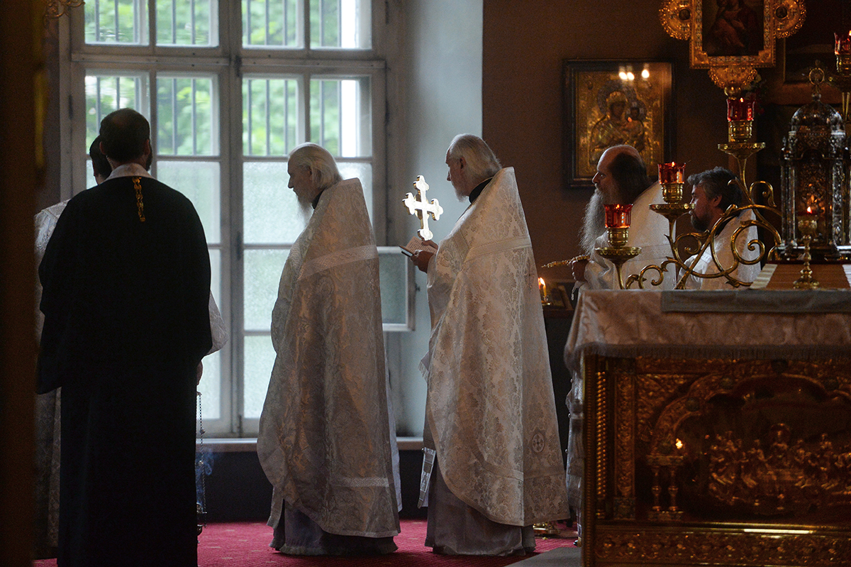 Патриаршее служение в праздник Вознесения Господня в московском храме «Большое Вознесение» у Никитских ворот