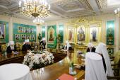 Началось экстренное заседание Священного Синода Русской Православной Церкви