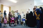 Святейший Патриарх Кирилл посетил благотворительный реабилитационный мини-центр «Добрые зернышки» для детей с ограниченными возможностями здоровья