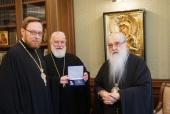Почетному Патриаршему экзарху всея Беларуси вручена медаль святителя Марка Ефесского