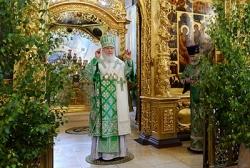 В день Святой Троицы Предстоятель Русской Церкви совершил Литургию в Троице-Сергиевой лавре