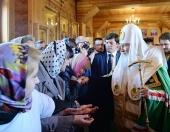 Святейший Патриарх Кирилл совершил молебен в Иверском кафедральном соборе г. Воркуты