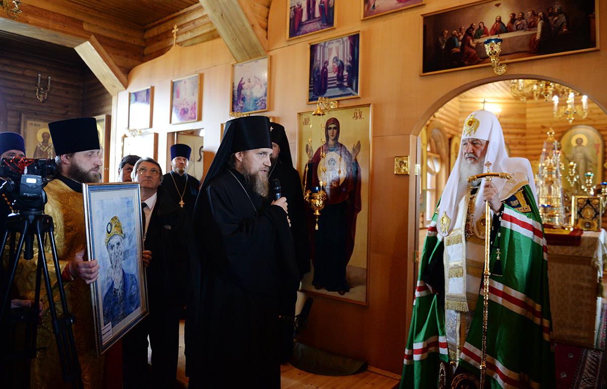Патриарший визит в Воркутинскую епархию. Молебен в Иверском кафедральном соборе г. Воркуты