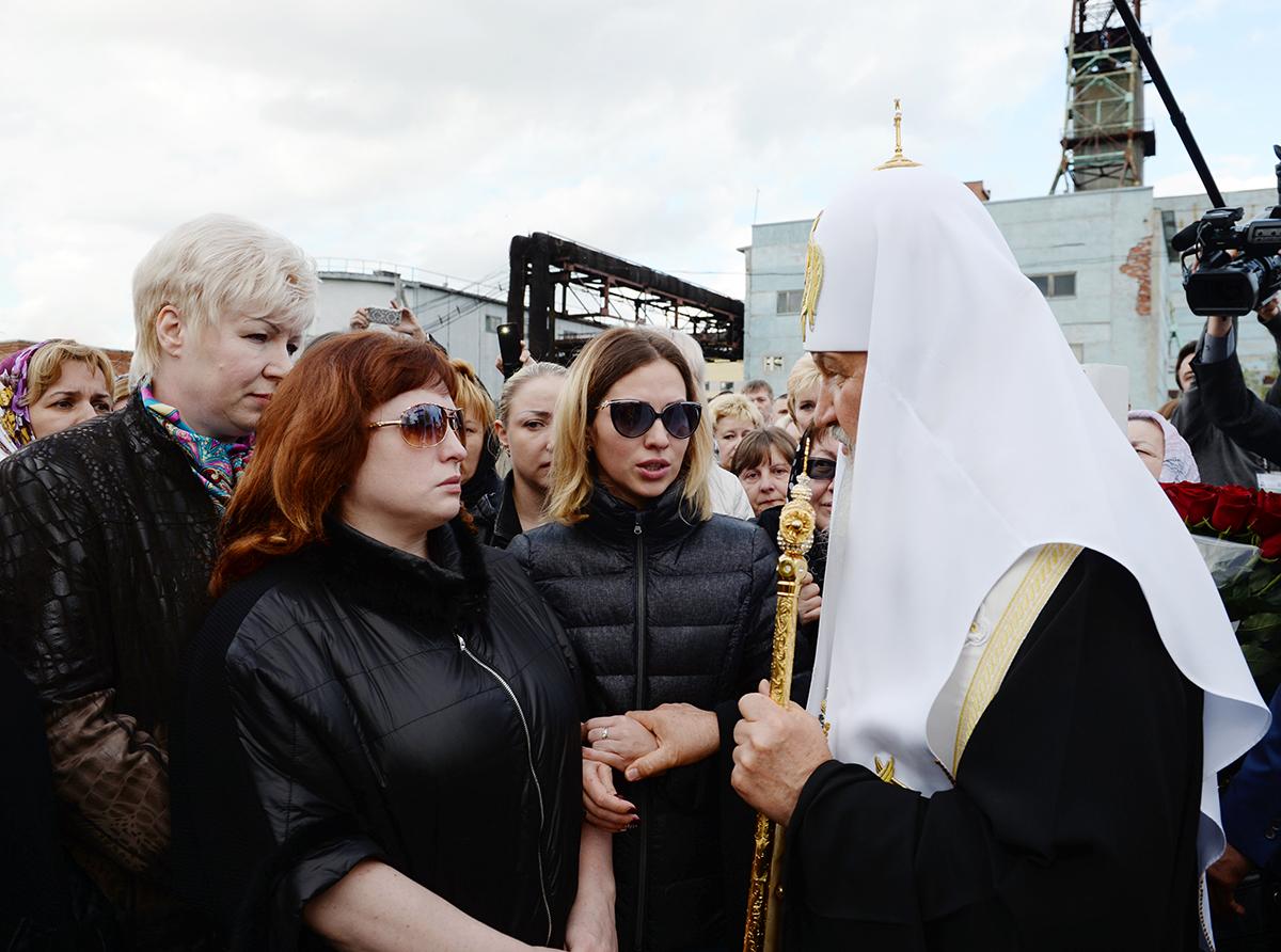 Патриарший визит в Воркутинскую епархию. Лития по погибшим шахтерам на шахте «Северная»