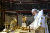 Святейший Патриарх Кирилл совершил Литургию в Смоленском соборе Московского Новодевичьего монастыря