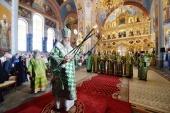 В день памяти прпп. Сергия и Германа Валаамских Святейший Патриарх Кирилл совершил Литургию в Спасо-Преображенском соборе Валаамского монастыря