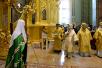 Патриарший визит в Санкт-Петербург. Божественная литургия в соборе святых апостолов Петра и Павла в Петропавловской крепости