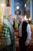 Патриарший визит на Валаам. Божественная литургия в день памяти прпп. Сергия и Германа Валаамских в Спасо-Преображенском соборе Валаамского монастыря