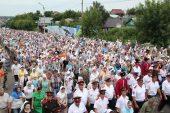 В день первоверховных апостолов Петра и Павла в Петропавловске состоялся самый большой крестный ход Казахстана