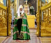 Слово Святейшего Патриарха Кирилла после Литургии в соборе святых апостолов Петра и Павла в Петропавловской крепости Санкт-Петербурга