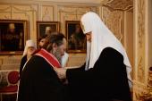 Святейший Патриарх Кирилл удостоил наград ряд архиереев Русской Православной Церкви