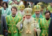 В день памяти преподобного Сергия Радонежского Предстоятель Русской Церкви возглавил служение Литургии в Троице-Сергиевой лавре