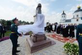Патриарший визит в Татарстанскую митрополию. Открытие памятника Г.Р. Державину