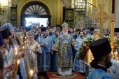 Святейший Патриарх Кирилл совершил вечернее богослужение в Свияжском монастыре