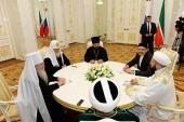 Предстоятель Русской Православной Церкви встретился с председателем Духовного управления мусульман Республики Татарстан муфтием Камилем Самигуллиным