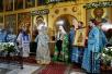 Патриарший визит в Татарстанскую митрополию. Литургия в Благовещенском соборе Казанского кремля. Закладка собора на месте обретения Казанской иконы Божией Матери