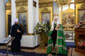 Святейший Патриарх Кирилл совершил Литургию в храме в честь иконы Божией Матери «Всех скорбящих Радость» на Большой Ордынке