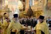 Молебен в Патриаршем Успенском соборе Московского Кремля накануне отъезда Олимпийской сборной России на летнюю Олимпиаду в Рио-де-Жанейро