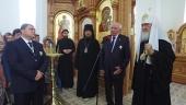 Святейший Патриарх Кирилл посетил Александро-Невский храм в селе Большое Сотниково Орловской области