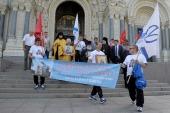 Из Кронштадта стартовал водный крестный ход в честь 15-летия прославления святого Феодора Ушакова