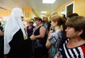 Святейший Патриарх Кирилл посетил Научно-клинический многопрофильный центр медицинской помощи матерям и детям в Орле