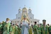 Предстоятель Русской Церкви совершил Литургию в Дивеевском монастыре и возглавил хиротонию архимандрита Евгения (Кульберга) во епископа Среднеуральского