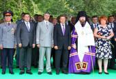 Епископ Бежецкий Филарет принял участие в открытии памятников князю М.И. Хилкову в Тверской области