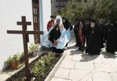 В Русском на Афоне Пантелеимоновом монастыре совершили соборную панихиду по новопреставленному схиархимандриту Иеремиии (Алехину)
