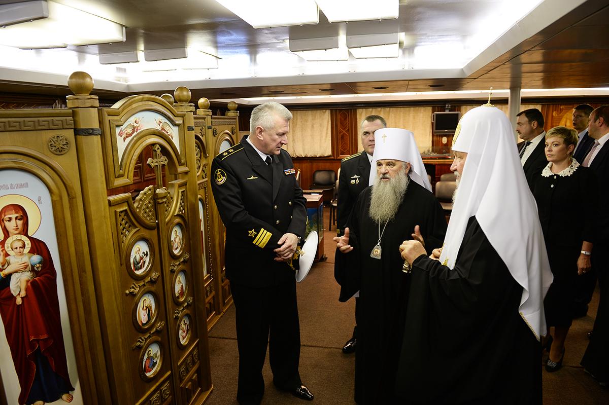 Патриарший визит в Мурманскую митрополию. Встреча с моряками Северного флота