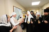 Предстоятель Русской Церкви посетил духовно-просветительский центр Североморской епархии