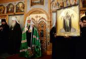 """Predica Sanctităţii Sale Patriarhul Chiril după privegherea săvârşită în catedrala """"Sfântul apostol Andrei"""" din or. Severomorsk"""