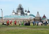 Святейший Патриарх Кирилл посетил футбольный матч между командами «Соловки» и «Звезды России»