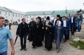 Святейший Патриарх Кирилл ознакомился с ходом реставрационных работ в Соловецком монастыре