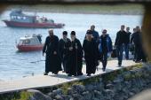 Святейший Патриарх Кирилл посетил Андреевский скит Соловецкого монастыря