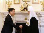 Святейший Патриарх Кирилл встретился с послом Японии в России