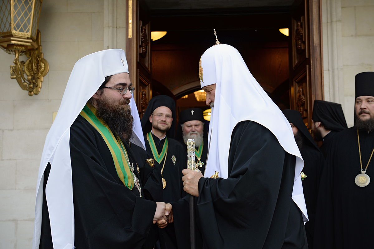 Встреча Святейшего Патриарха Кирилла с Блаженнейшим Митрополитом Чешских земель и Словакии Ростиславом